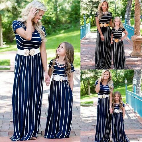 Striped Floor Length Summer Dress 💖