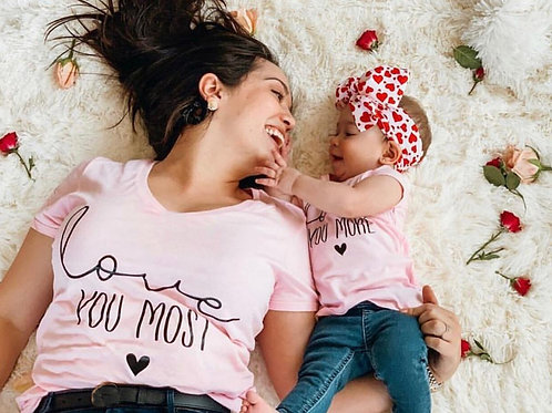 Mother & Daughter Love You More/ Love You Most T-shirts 💖