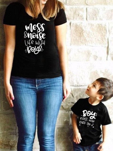 Mess and Noise Life With Boys T-shirts