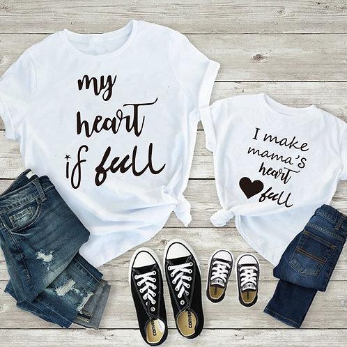 My Heart Is Full | I Make Mama's Heart Full T-shirts