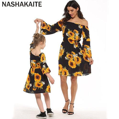 Sunflower off the Shoulder Bell Sleeve Dress 💖