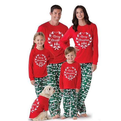 Long Sleeve Merry Christmas PJs for Family & Dog