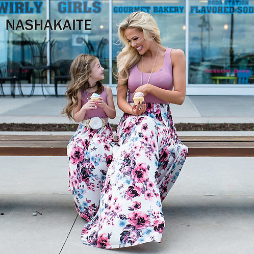 Floral Sleeveless Maxi Dress 💖