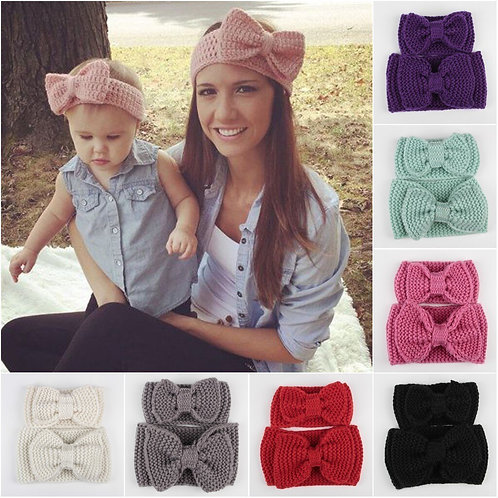 Mommy & Me Knitted Headband 2 Pcs Set 💖