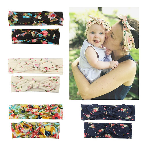 Mommy and Me Matching Headbands with bows 2 Pcs Set 💖