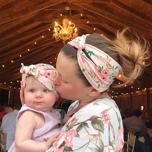 Mommy & Me Floral Headbands 2 Pcs Set 💖