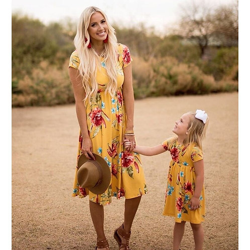 Casual Short Sleeve Floral Print Dress 💖
