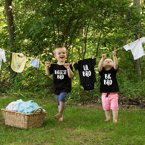Biggest Bro | Big Bro | Lil Bro | Announcement T-Shirts