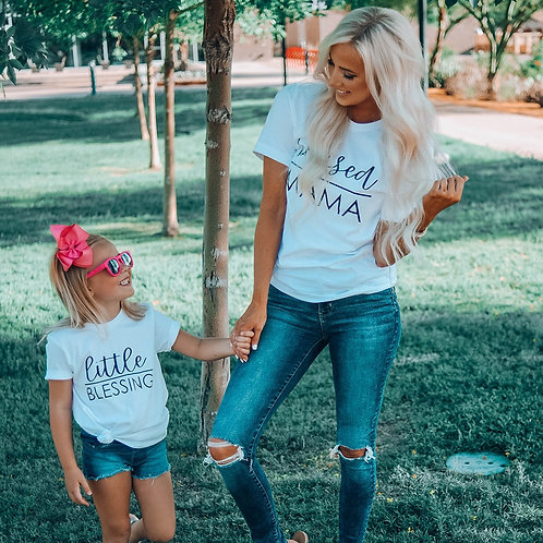 Blessed Mama | Little Blessing T-shirts