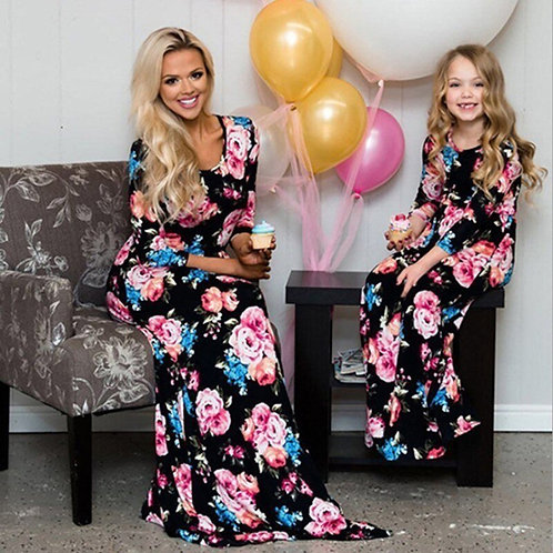 Floral Long Sleeve Maxi Dress 💖