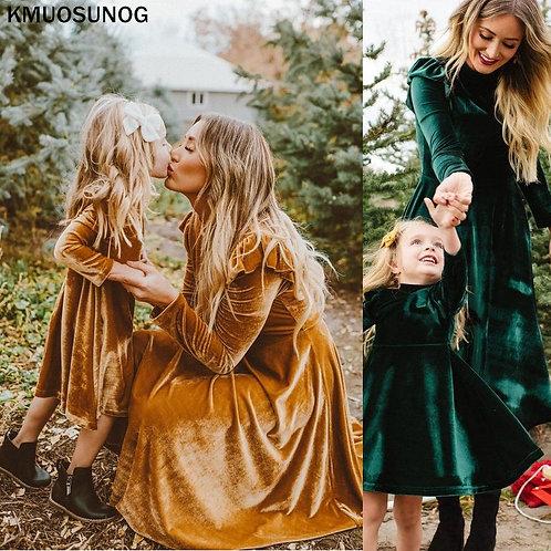 Autumn Velvet Long Sleeve Dress 💖