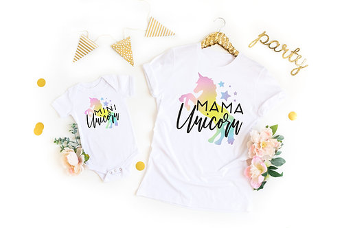 3 Designs | Mama Unicorn | Mini Unicorn Shirts