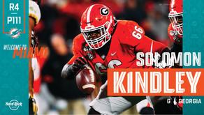 Dolphins Draft Georgia Guard Solomon Kindley