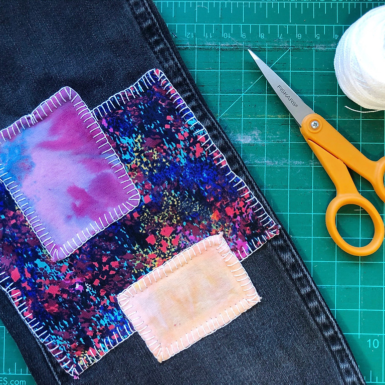 Virtual Mending Series Week 6: Covering with Patch Applique