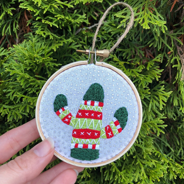 Holiday Sweater Cactus Ornament
