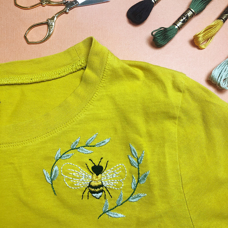 Embroidered Bee T-Shirt Workshop