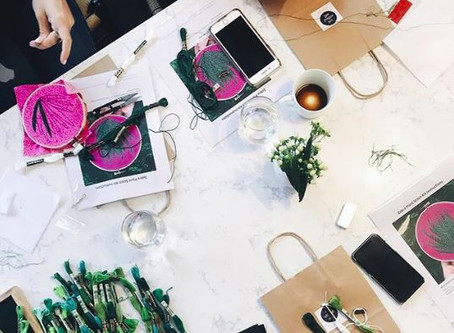 Embroidery Workshops at Not Without Salt