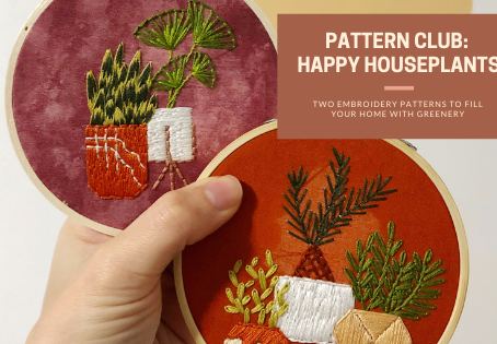 Add Happy Houseplants to Your Home with the December Pattern Club Designs