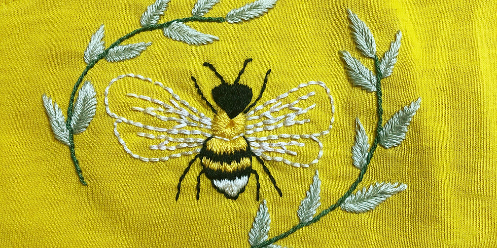 Bee T-Shirt Embroidery Workshop