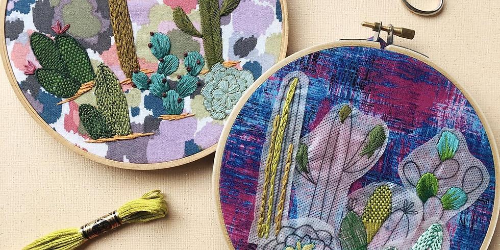 Cactus Embroidery Basics
