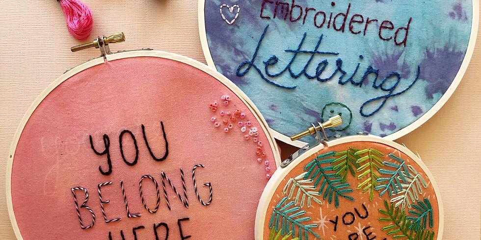 Embroidered Lettering Workshop