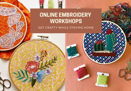 July Embroidery Workshops: Still Online, Still Stitching Fun