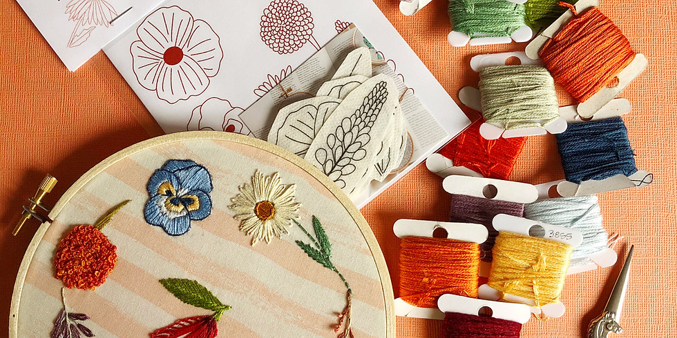 Wildflower Embroidery Basics Workshop