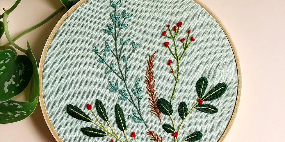 Winter Botanical Embroidery Basics
