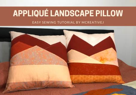 How to Create an Appliqué Landscape Pillow