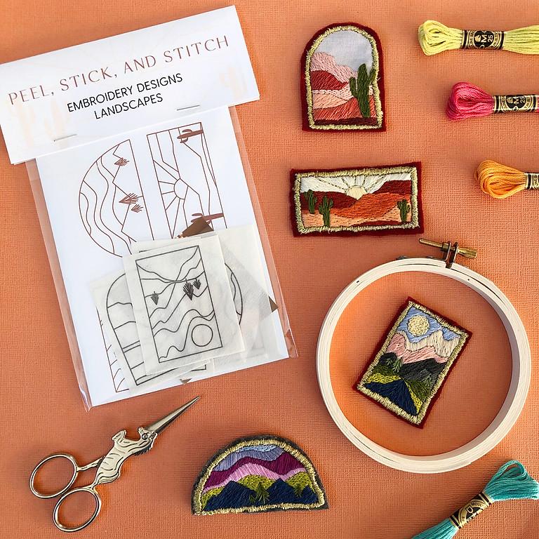 Embroidered Landscape Patch Workshop