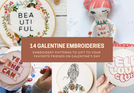 14 Lovely Embroidery Patterns to Gift to Your Favorite Friends on Galentine's Day