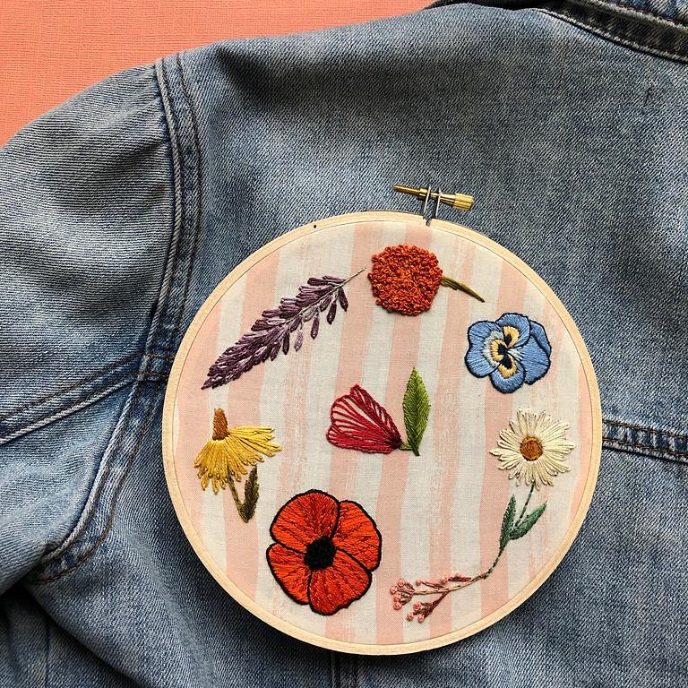 Wildflower Embroidery Basics Workshop