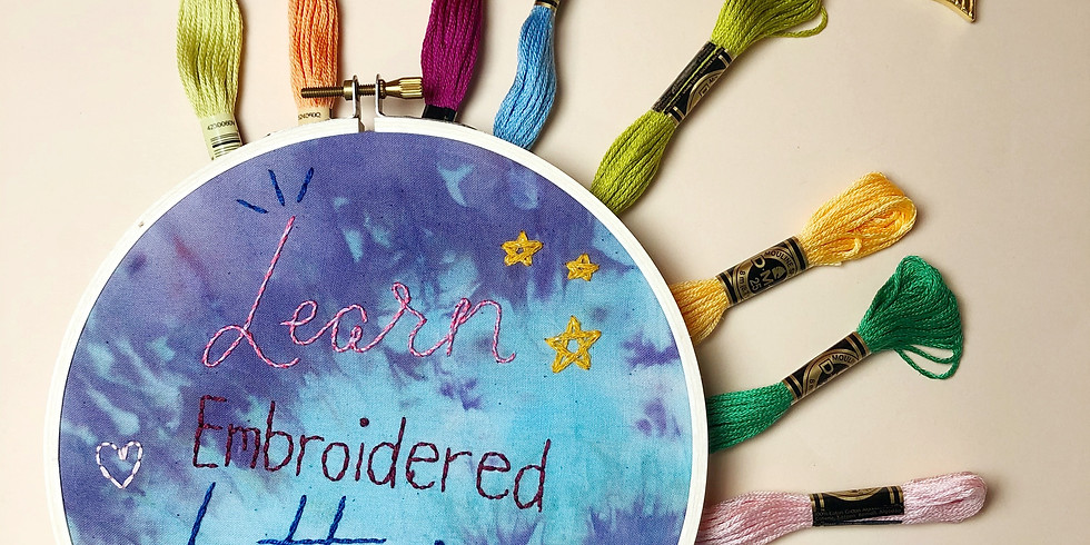 Embroidered Lettering
