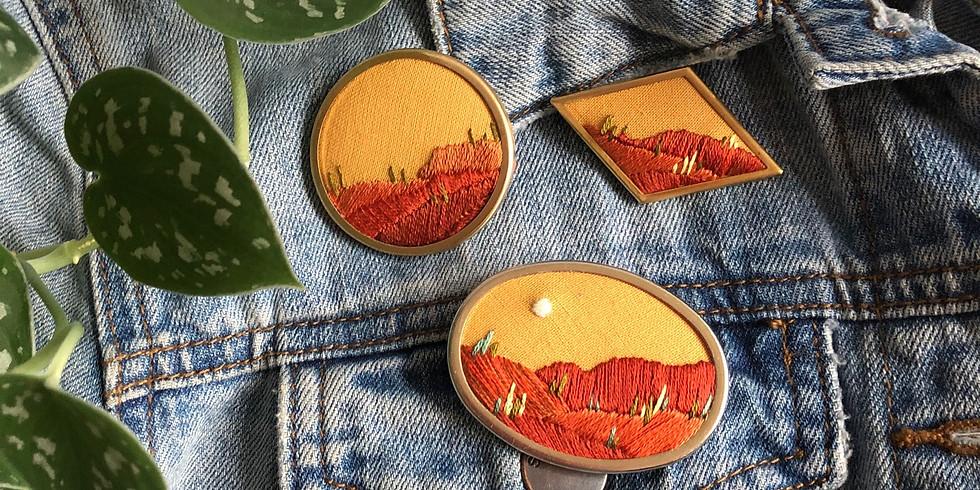Desert Landscape Pin