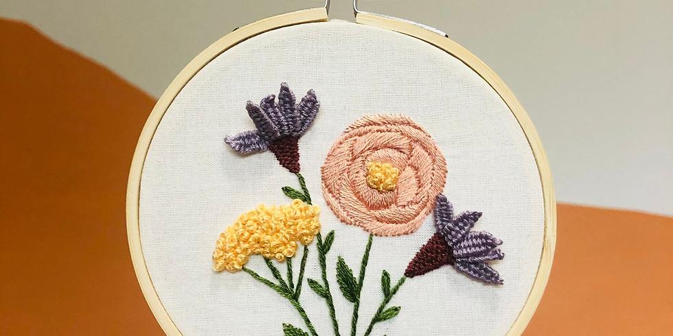 Blooming Wildflowers Embroidery Workshop