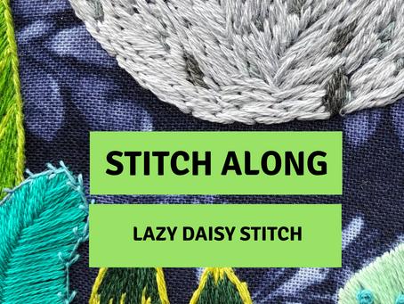 Stitch Along: Lazy Daisy Stitch