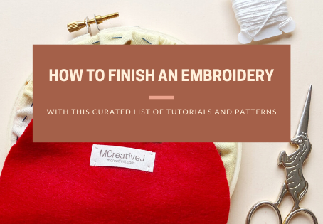 How to Finish an Embroidery