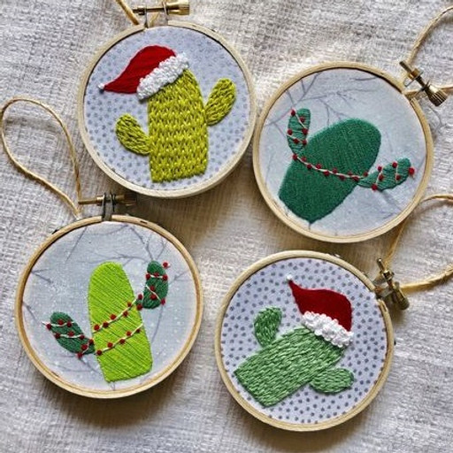 Cactus Holiday Ornament