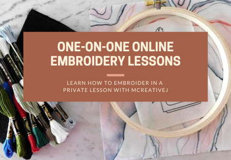 One-On-One Online Embroidery Lessons