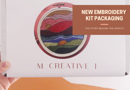 From Envelopes to Boxes: Updating MCreativeJ Embroidery Kit Packaging