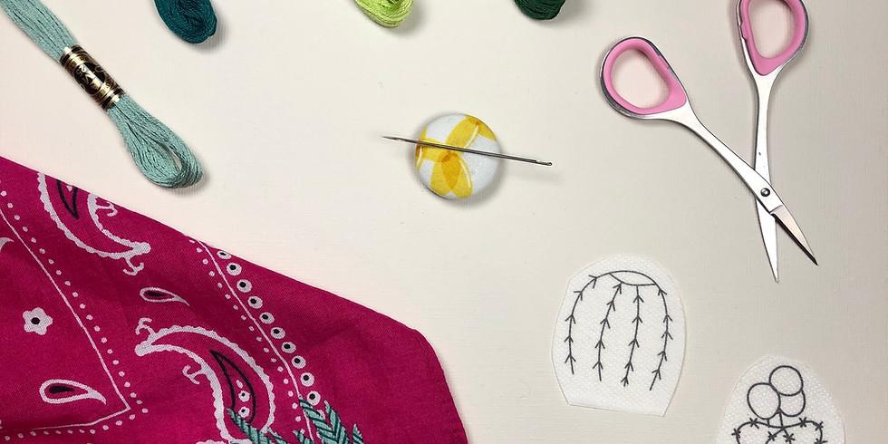 Cactus Bandana Embroidery Workshop