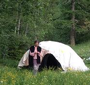 Zeremonie der Schwitzhütte
