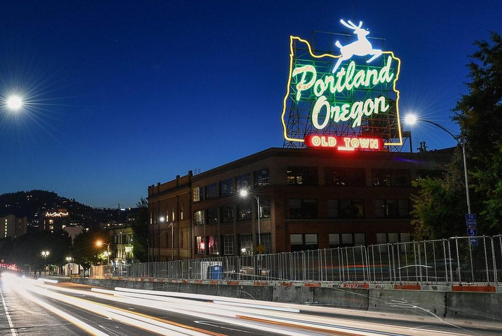 Portland Oregon White Stag