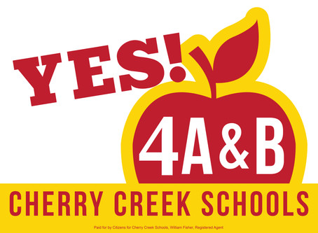 YES on 4A & 4B:  A Letter From the Cherry Creek Board of Education to PTCO's/PTO's