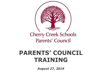Thank you for joining us for Parents'  Council Training!