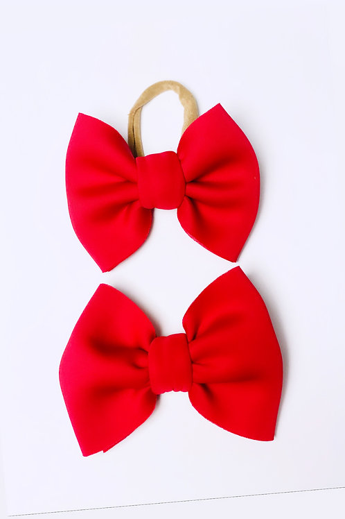 Puffed Red Nylon or Clip on