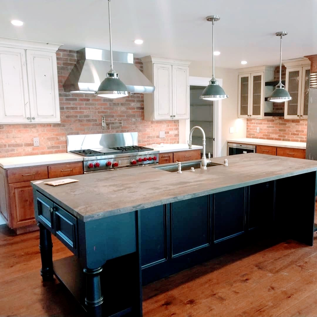 kitchen remodel | debsmind | amindondesign | brick veneer