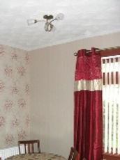 Light fitting and curtains
