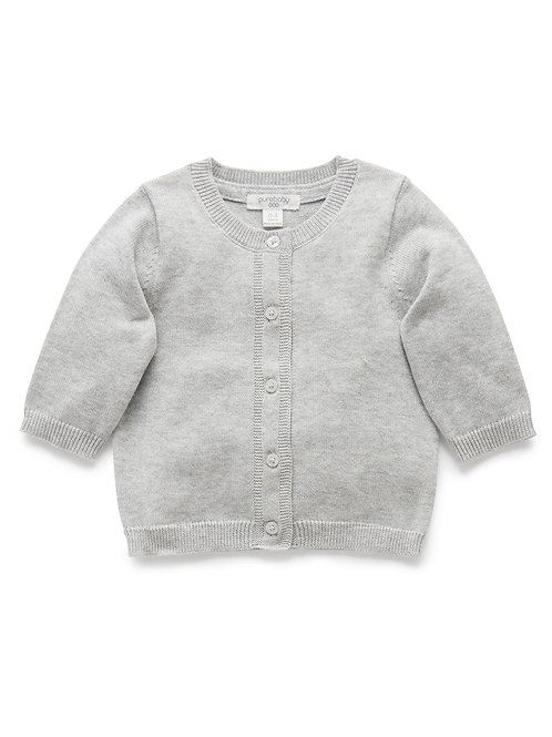 100% Org Cotton basic cardi