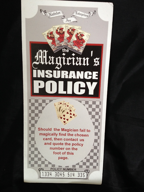 Magicians Insurance Policy by Paul Gordon